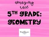 5th Grade Geometry Math Race Activity