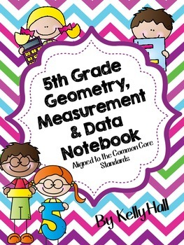 5th Grade Geometry, Measurement & Data Interactive Notebook