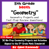 5th Grade Geometry, 30 Enrichment Projects and 30 Test-Prep Problems