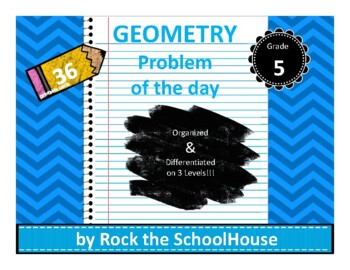 Geometry Task Cards - Math Problem of the Day ( 5th grade