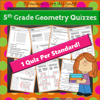 5th Grade Geometry Quizzes: 5th Grade Math Quizzes, 5th Grade No Prep