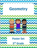 5th Grade Geometry Standards Poster Set