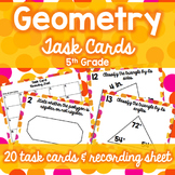 5th Grade Geometry Task Cards