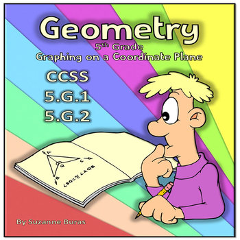 5th Grade Geometry: The Coordinate Plane - CCSS 5.G.A.1-2
