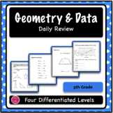 5th Grade Geometry & Data Daily Spiral Review BUNDLE