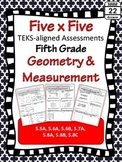 5th Grade Math TEKS Geometry and Measurement