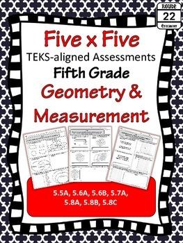 5th Grade Math TEKS Geometry and Measurement