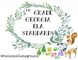 5th Grade Georgia ELA Standards - Watercolor Woodland Animals & Plants Theme