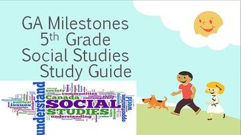 5th Grade Georgia GA Milestones Social Studies SS Study Guide