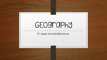 5th Grade Georgia Geography Review