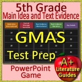 5th Grade Georgia Milestones Test Prep Main Idea and Text Evidence Game - GMAS