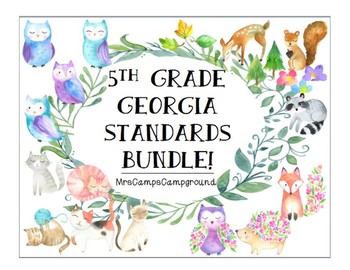 5th Grade Georgia Standards - ELA, Math, Science, & S.S. - BUNDLE
