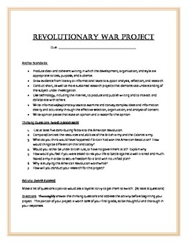 5th Grade Gifted Revolutionary War Newspaper Project