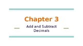 5th Grade Go Math- Chapter 3 Powerpoint
