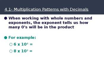 5th Grade Go Math- Chapter 4 Powerpoint