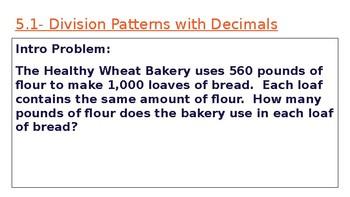 5th Grade Go Math- Chapter 5 Powerpoint