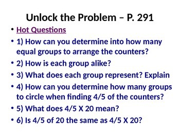 5th Grade Go Math Chapter 7 PowerPoint Presentation and Lessons
