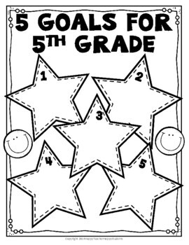 5th Grade Goals - 5 Goals for Fifth Grade - Back to School Goal Setting