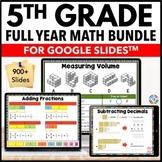 5th Grade Google Classroom Math Activities Bundle Distance
