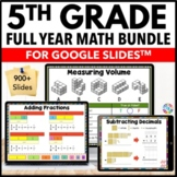 5th Grade Google Classroom Math Activities Bundle Distance