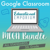 5th Grade Google Classroom Math Bundle, Interactive Digital Math Curriculum, 5th