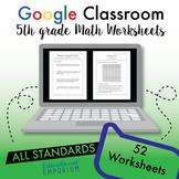 5th Grade Google Classroom Math Worksheets, Digital Math Worksheets, 5th Grade