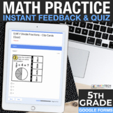 5th Grade Google Forms - Practice and Exit Tickets Distanc