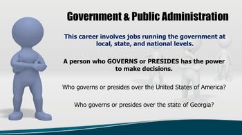 5th Grade - Government and Public Administration Career Cluster PPT