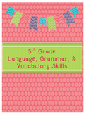 5th Grade Language, Grammar, and Vocabulary Skills Book