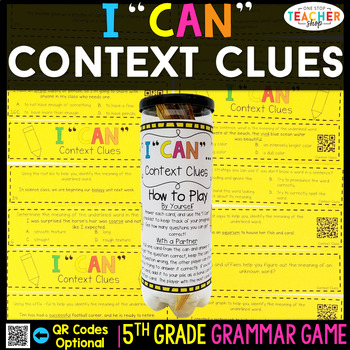 5th Grade Grammar Game | Context Clues