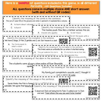 5th Grade Grammar Game   Figurative Language