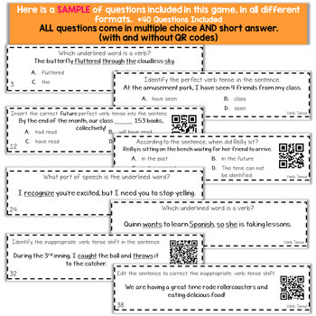 5th Grade Grammar Game | Perfect Verb Tense & Verb Tense Shifts