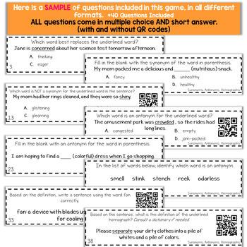 5th Grade Grammar Game | Synonyms, Antonyms & Homographs