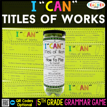 5th Grade Titles of Works Game