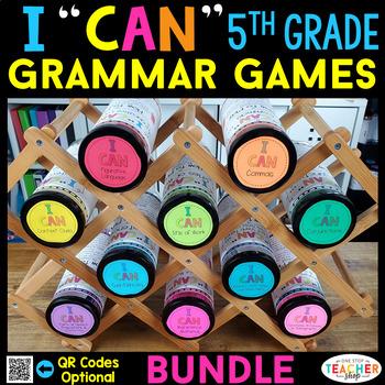 5th Grade Grammar Games   5th Grade Grammar Centers BUNDLE