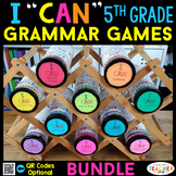 5th Grade Grammar Games | 5th Grade Grammar Review BUNDLE