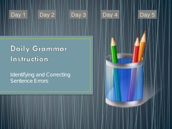 5th Grade Grammar Instructional PowerPoint - How to Edit,