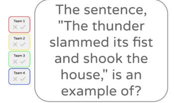 5th Grade Grammar Jeopardy Quiz