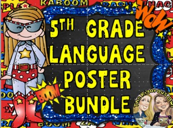 5th Grade Grammar Language Anchor Charts