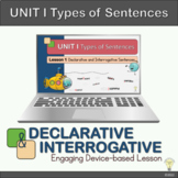 "Animated PPT Grammar Lesson 1 ""Declarative and Interrogati"