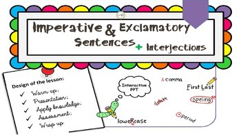 "PPT Grammar Lesson 2 ""Imperative and Exclamatory Sentences; Interjections"""