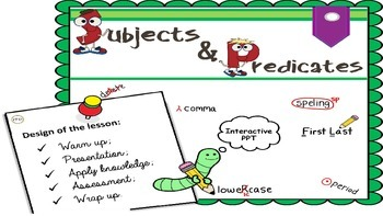 "PPT Grammar Lesson 3 ""Subjects and Predicates"""