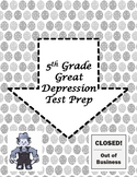 5th Grade Great Depression Test Prep