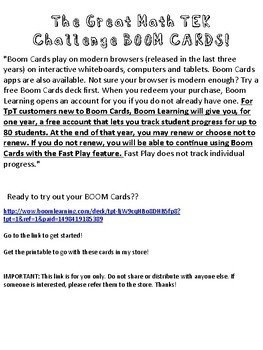5th Grade Great TEK Challenge BOOM Cards