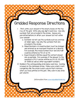 5th Grade Gridded Response Task Cards