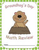5th Grade Groundhog's Day Math Review Packet with Answer Key