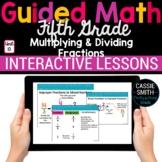 5th Grade Math Multiply Divide Fractions 5.NF.3-5.NF.7 -Go