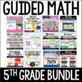 5th Grade Guided Math Centers (Mega Bundle)