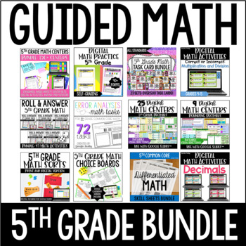 5th Grade Guided Math (Mega Bundle)