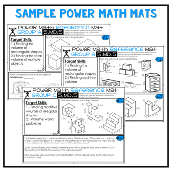5th Grade Guided Math Reference Mats Measurement and Data 5.MD.1 5.MD.2 5.MD.3